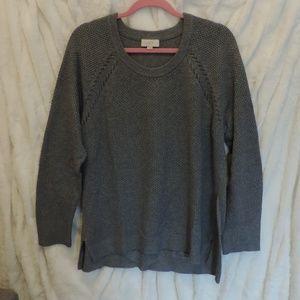 Ann Taylor LOFT Grey Gray Sweater Long Sleeve